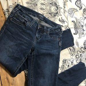 Silver Berkley Skinny Jeans